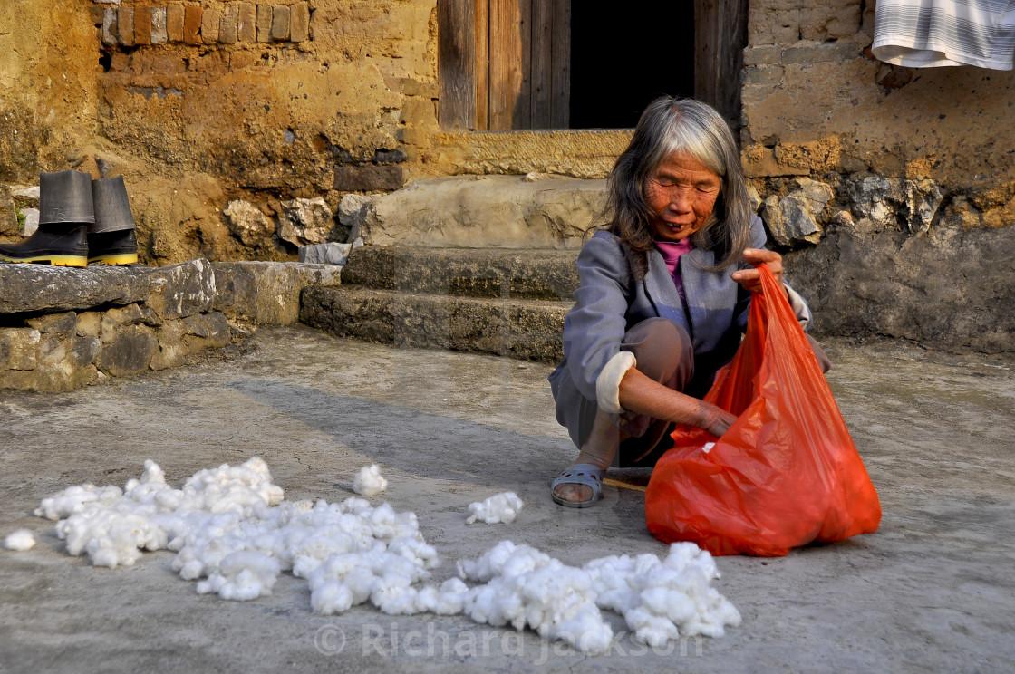 """""""Cotton Lady China"""" stock image"""