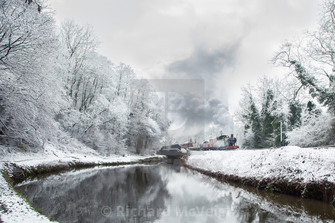 """Along the Canal"" stock image"