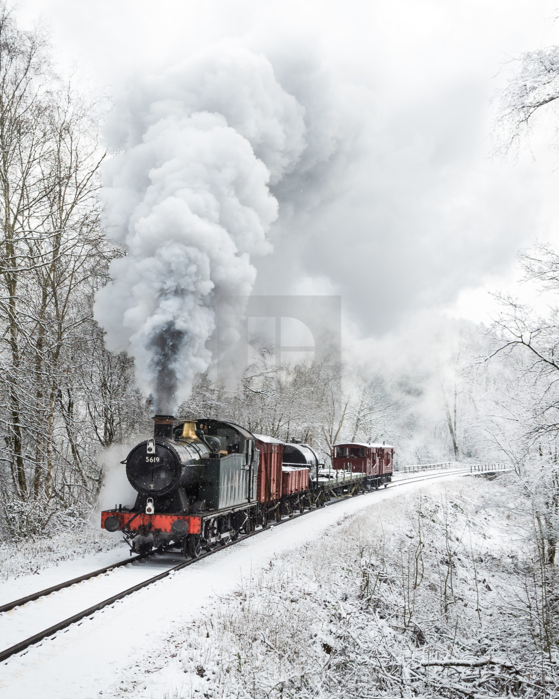 """Winter on the Railway"" stock image"