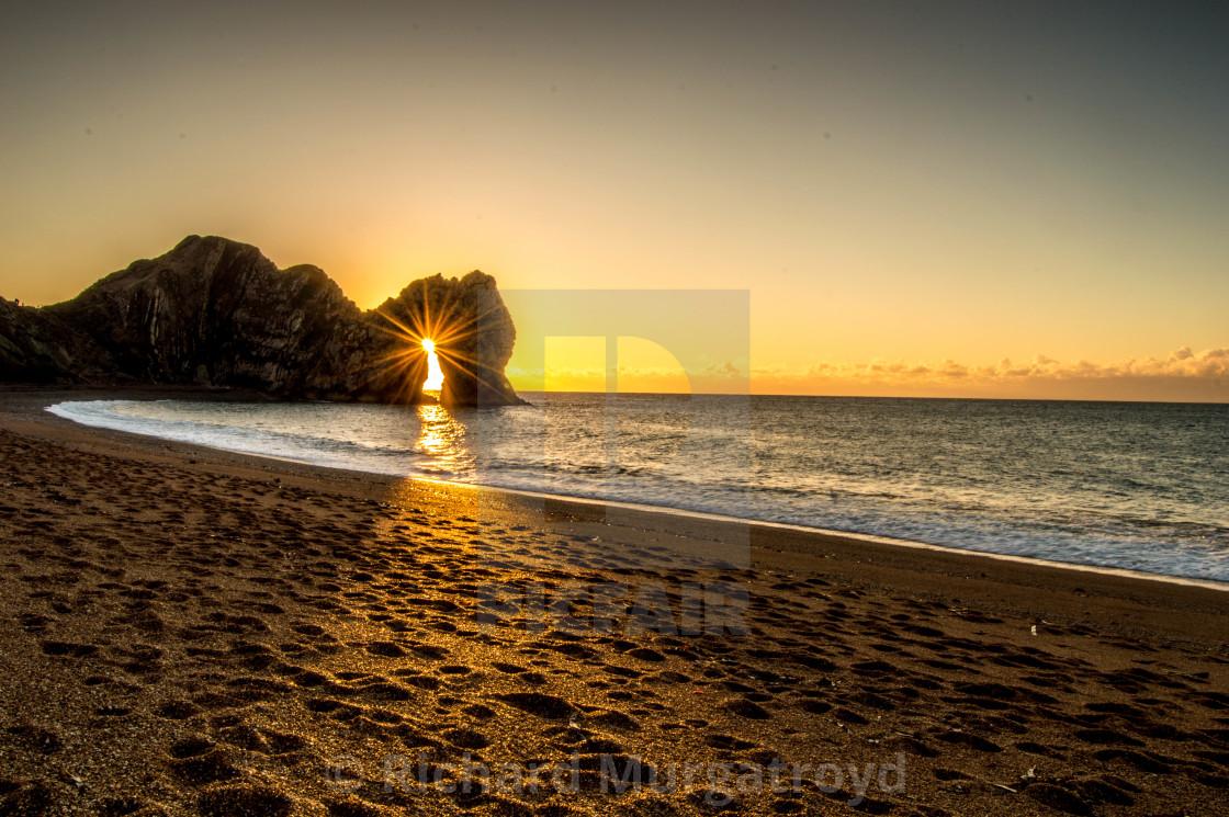 """""""Durdle Door sunrise"""" stock image"""