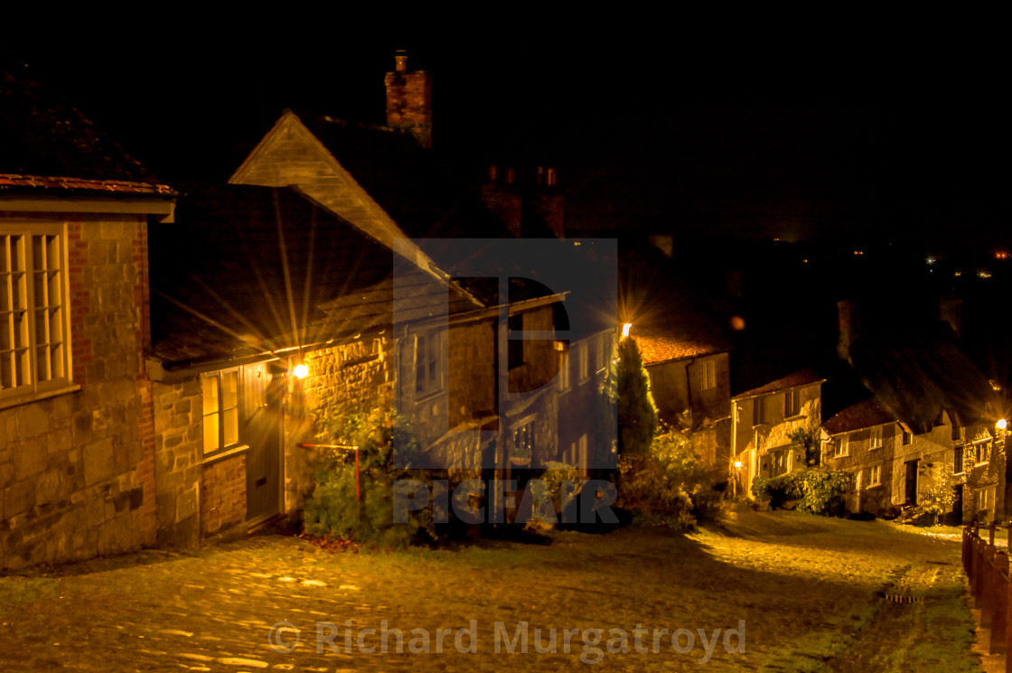 """""""Gold Hill, Shaftesbury"""" stock image"""