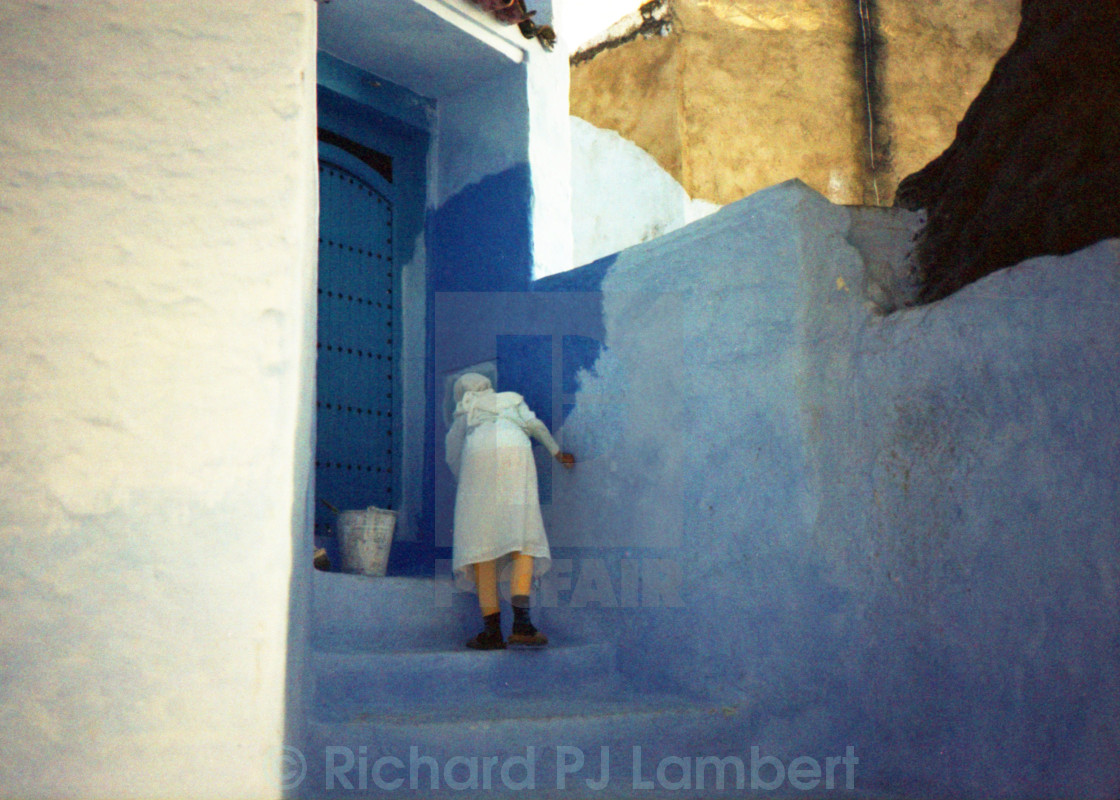 """Chefchaouen, Blue City"" stock image"