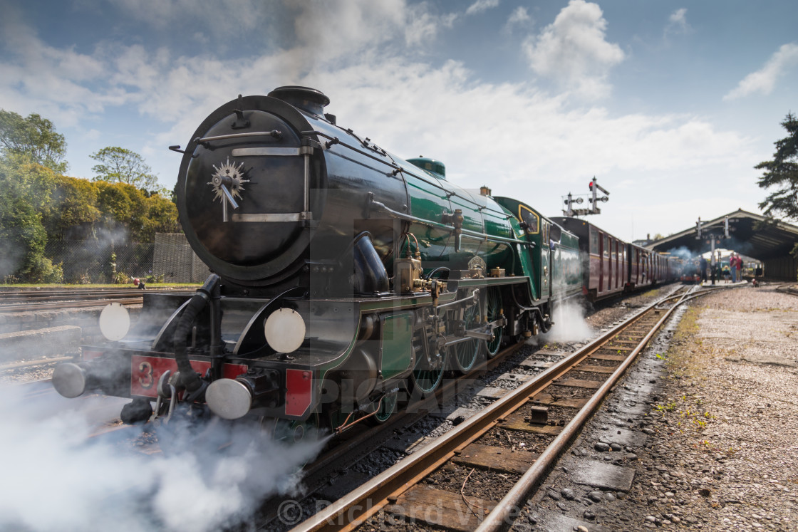"""Steam engine Southern Maid"" stock image"