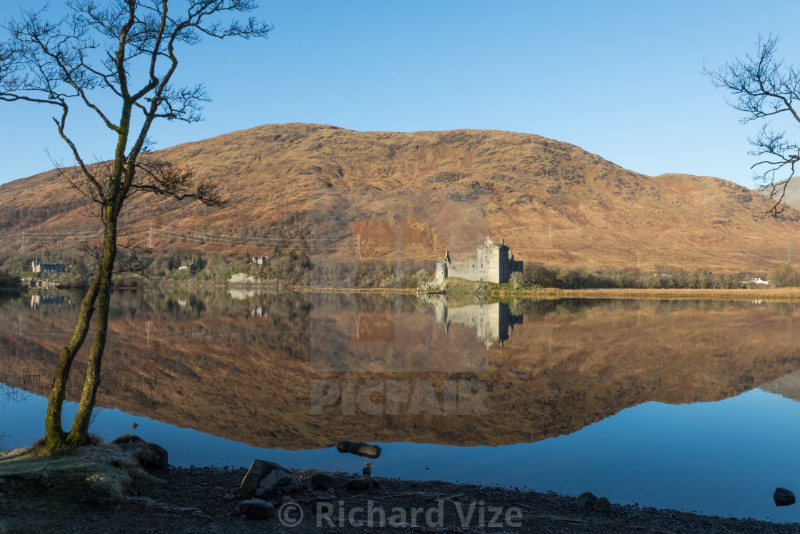 """Kilchurn Castle, Loch Awe, Argyll and Bute, Scotland"" stock image"