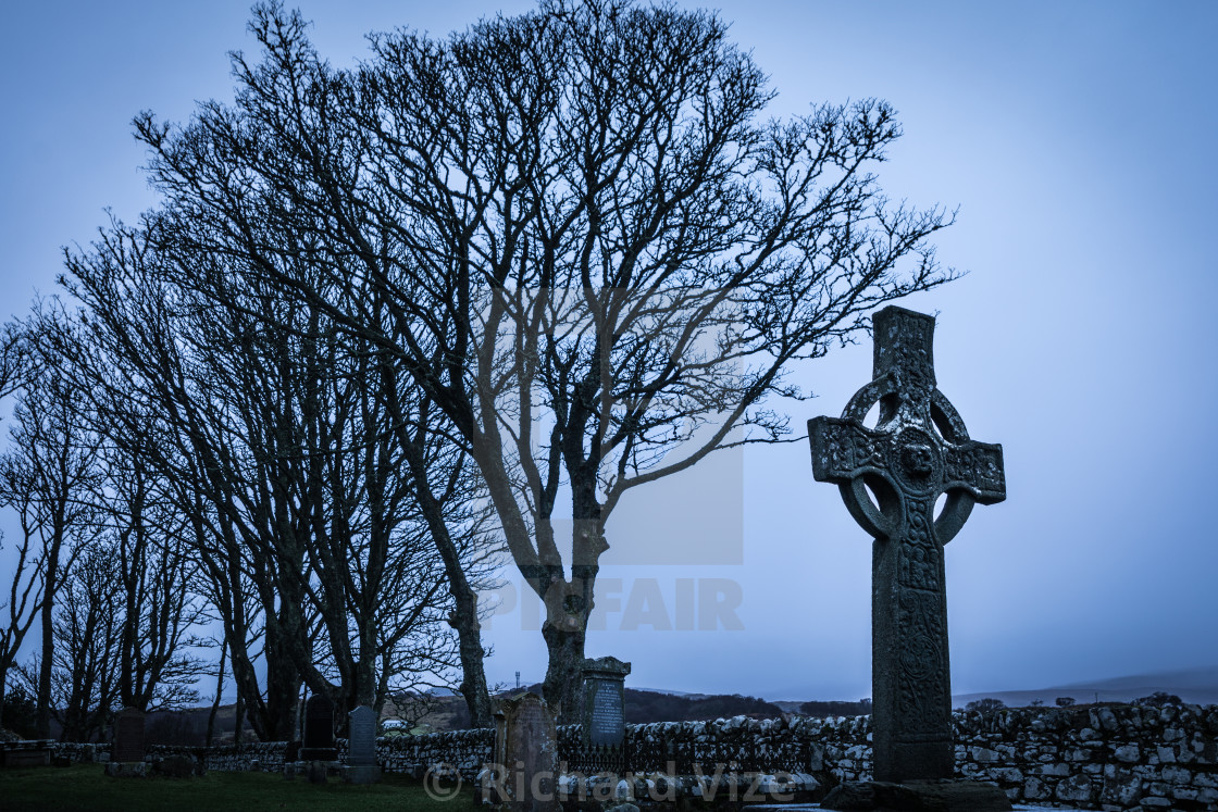 """Kildalton High Cross, Isle of Islay, Scotland"" stock image"
