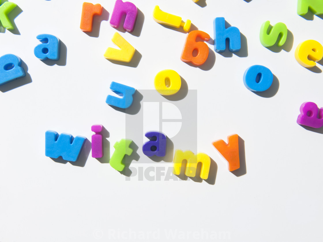 fridge magnet letters spell witamy welcome in polish stock image