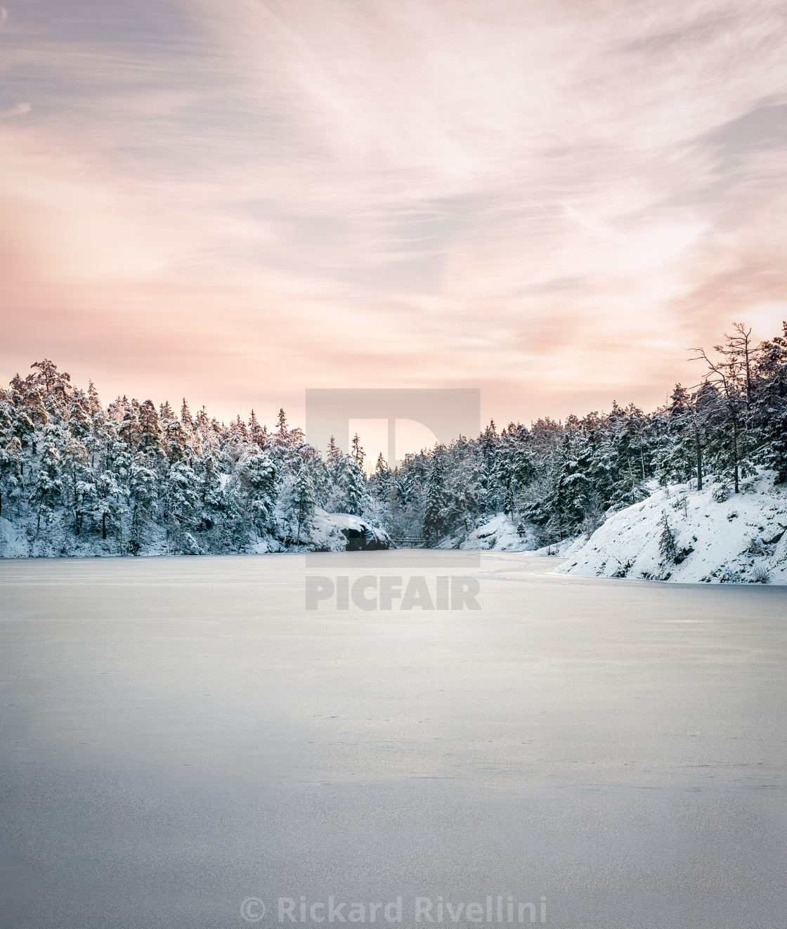 """Nordic Winter Landscape"" stock image"