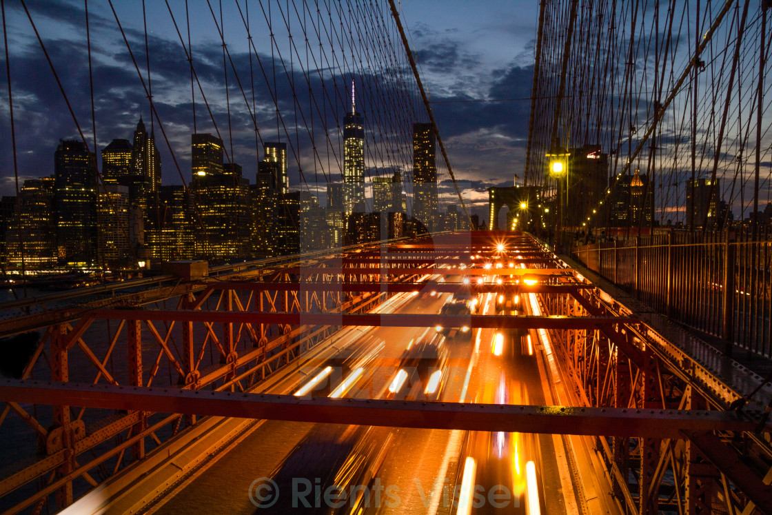 """Brooklyn Bridge - NY City"" stock image"