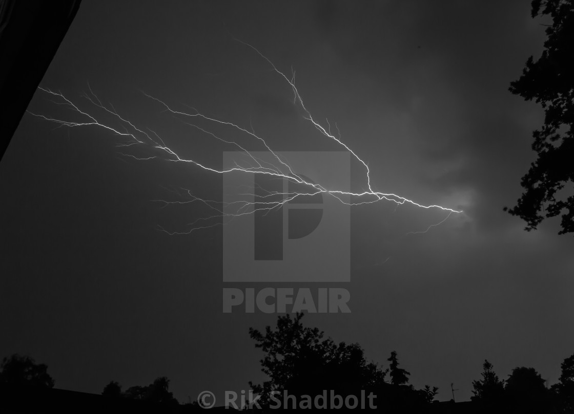 """Fork lightning"" stock image"