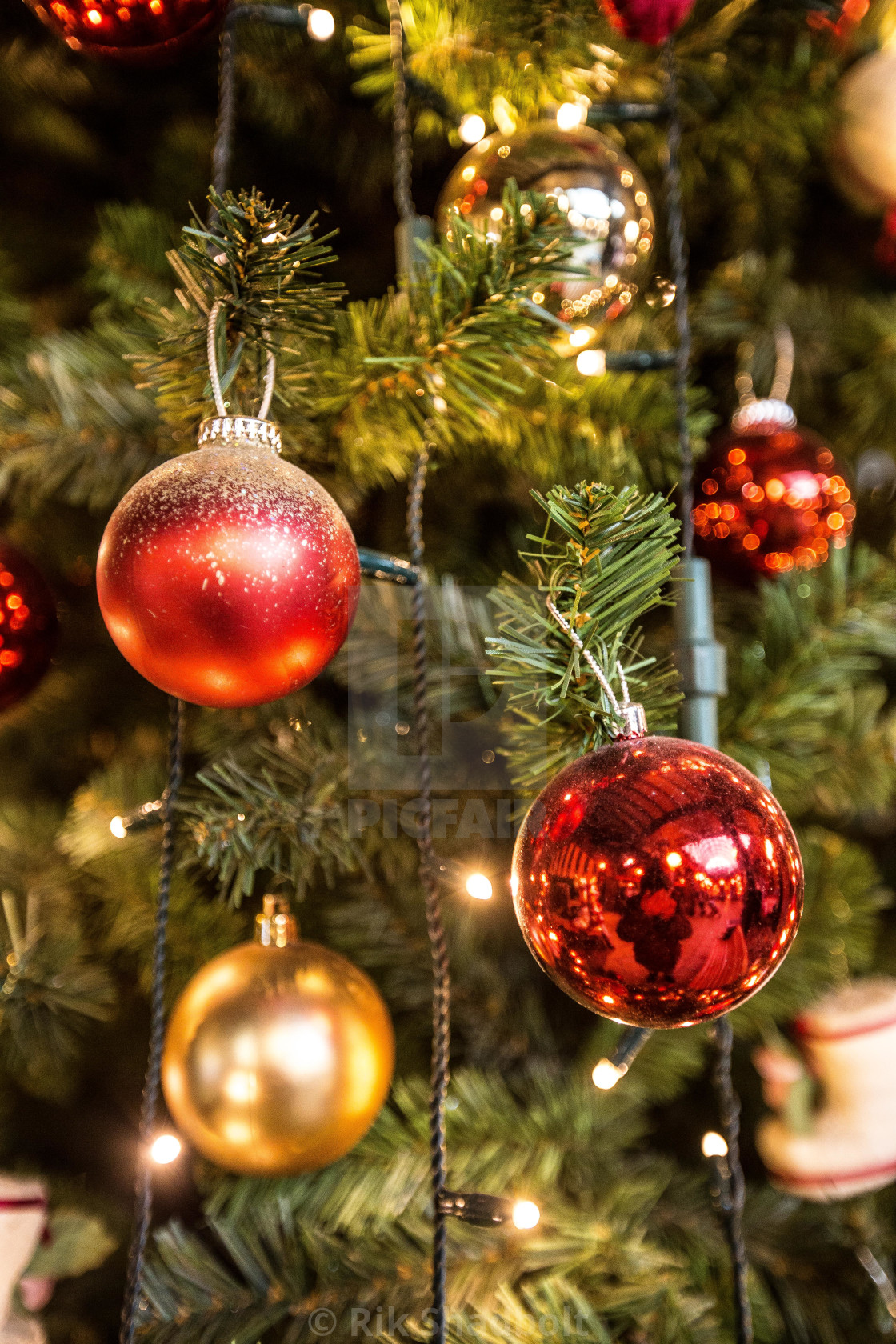 """Christmas Tree Baubles"" stock image"