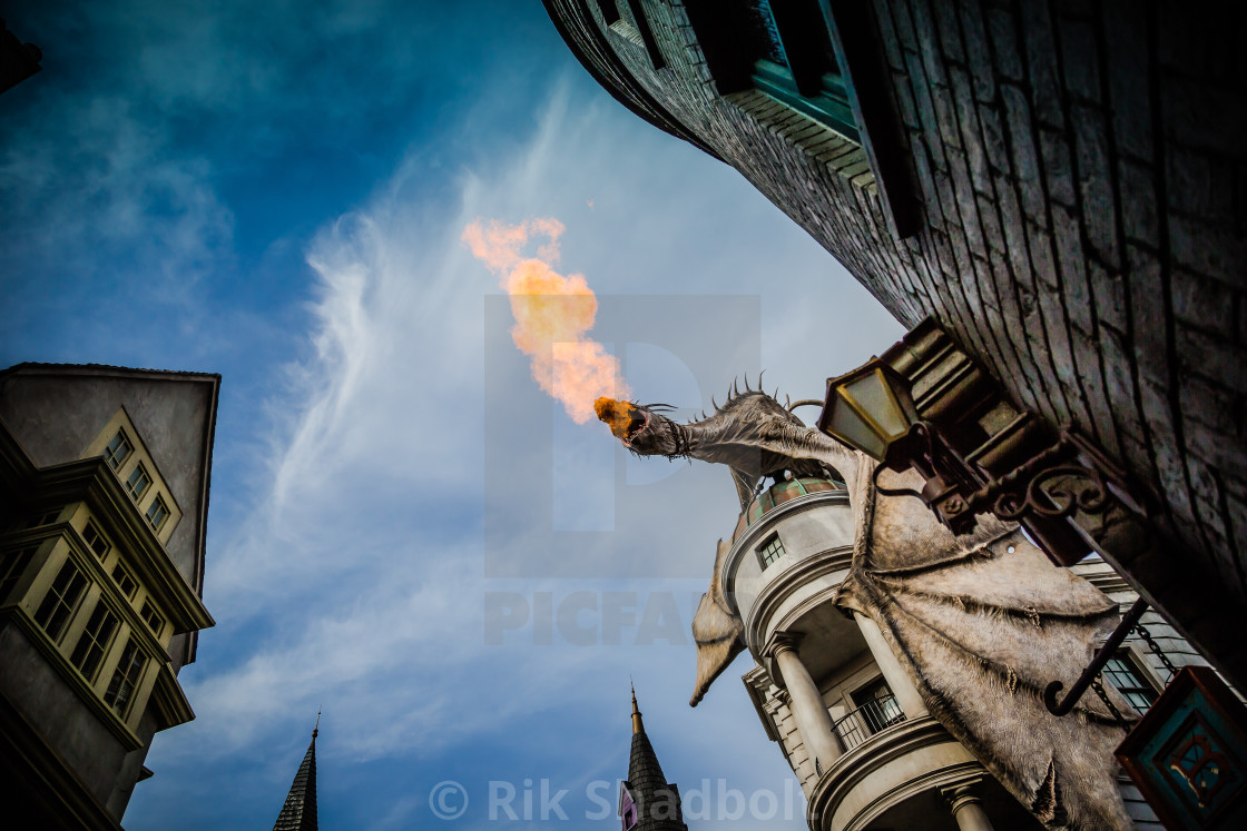 """Fiery Breath"" stock image"