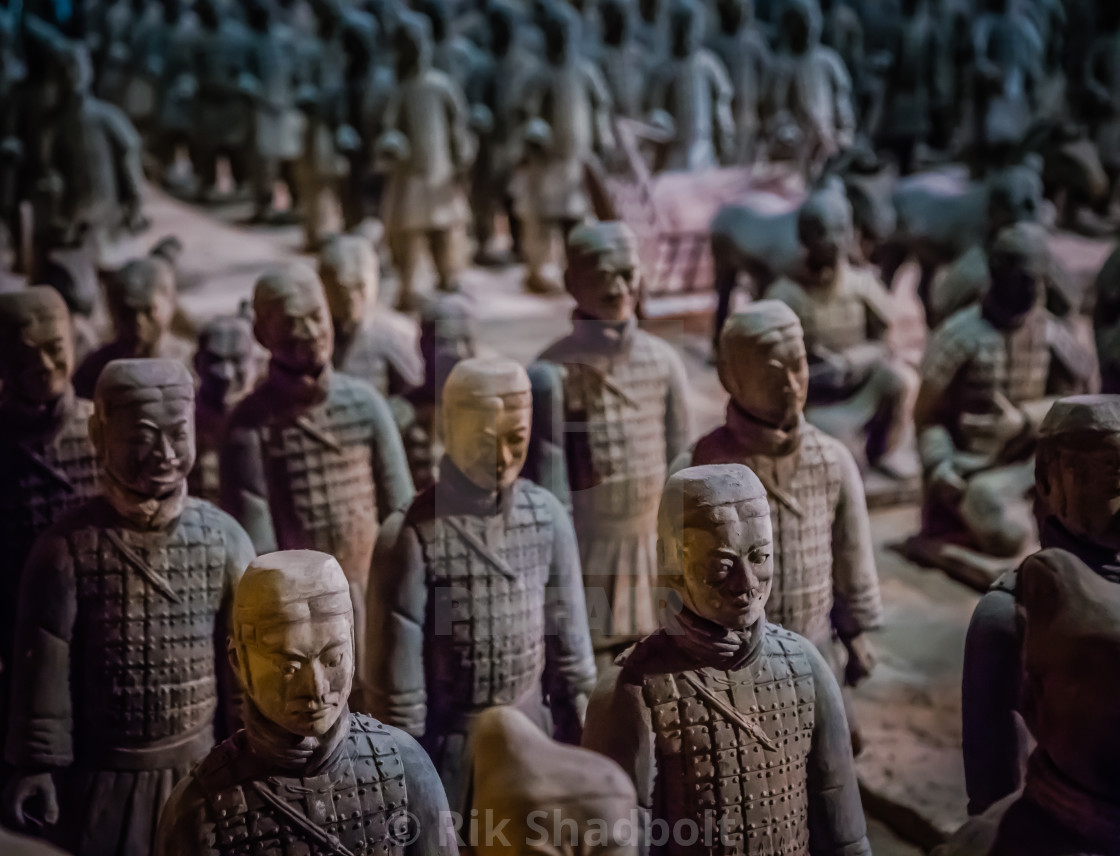 """Terracotta Warriors"" stock image"