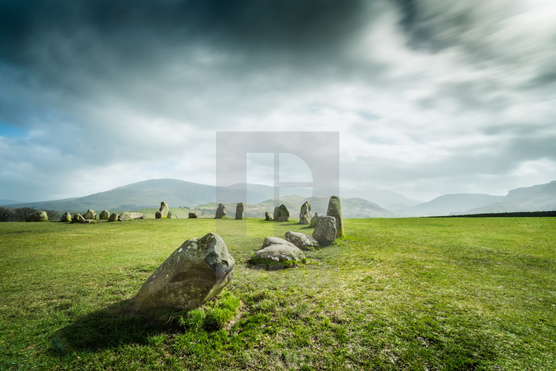 """Castlerigg Stone Circle, Cumbria. UK"" stock image"