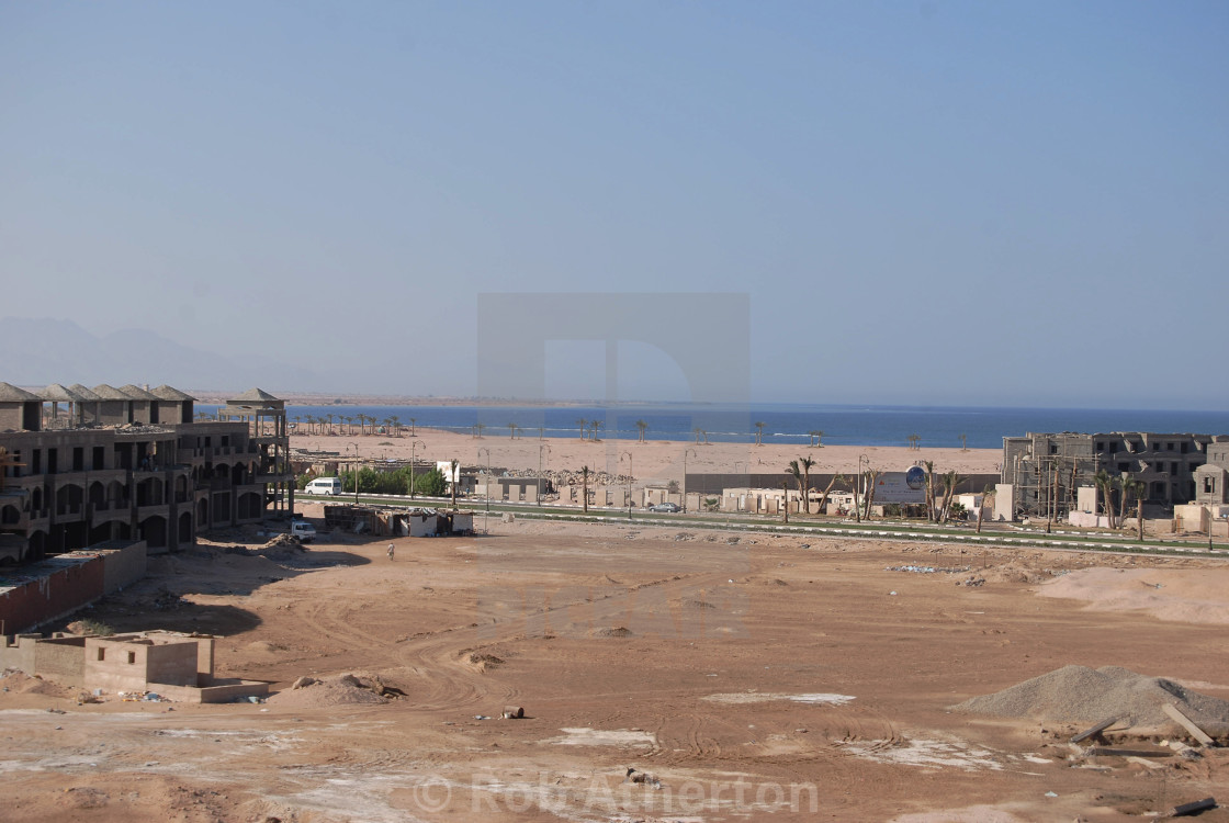 """A building site in Sharm el Sheikh, Egypt"" stock image"