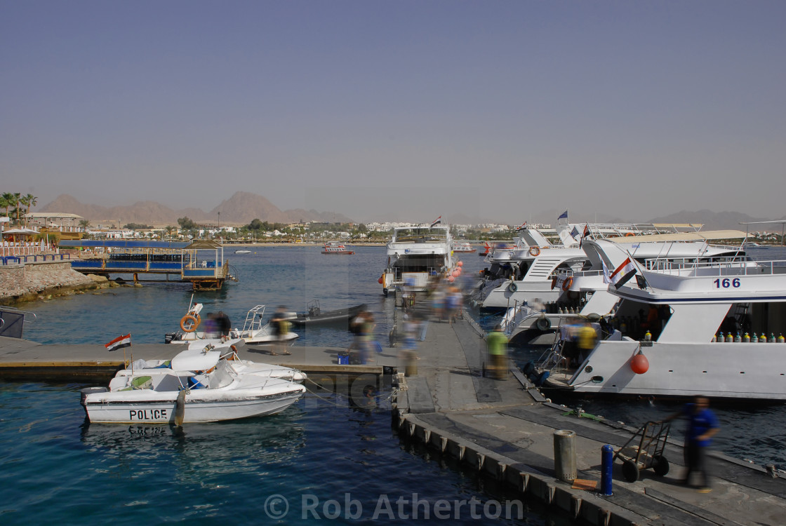 """The marina at Naama Bay in Sharm el Sheikh, Egypt"" stock image"