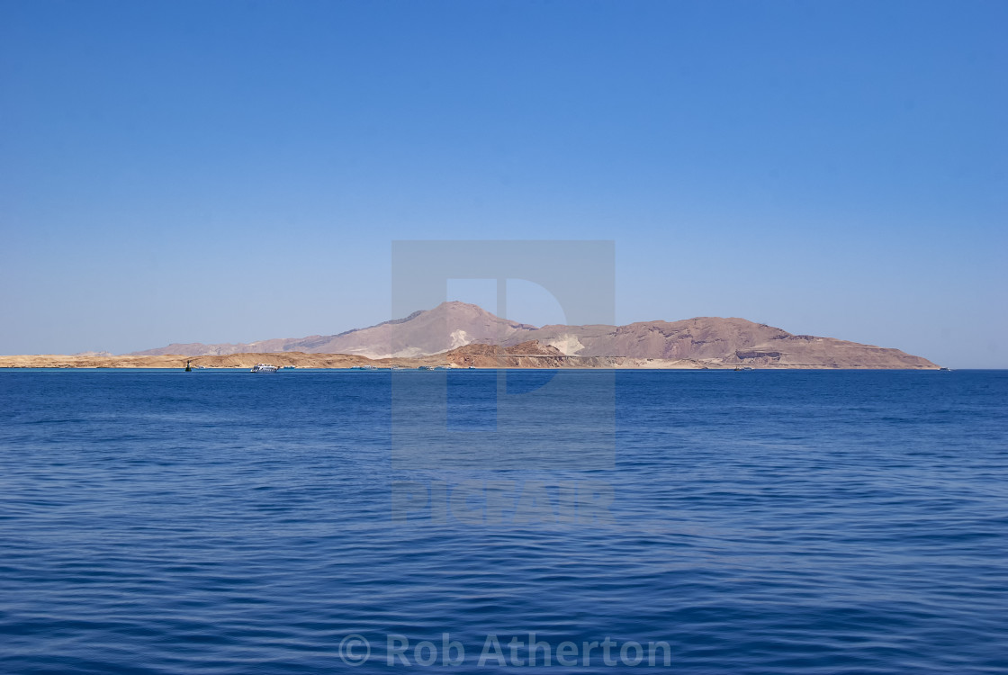 """Tiran Island near Sharm el Sheikh in Egypt"" stock image"