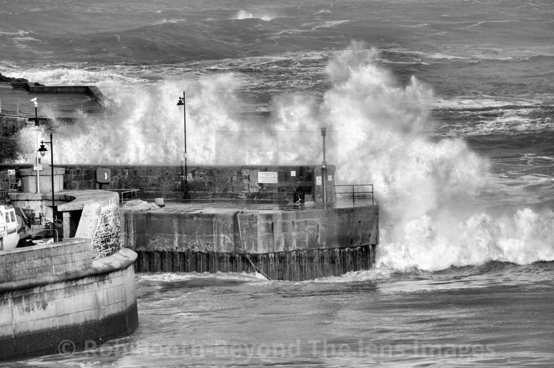"""""""'Harbour Wave'"""" stock image"""
