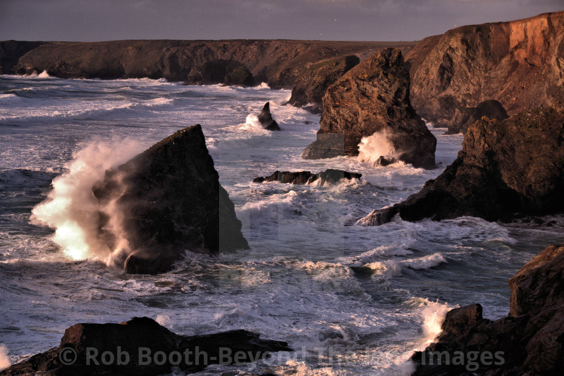 """Stormy Bedruthan."" stock image"