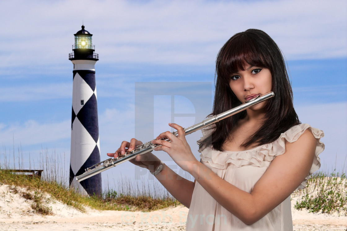 Woman Flutist - License, download or print for £12 40 | Photos | Picfair