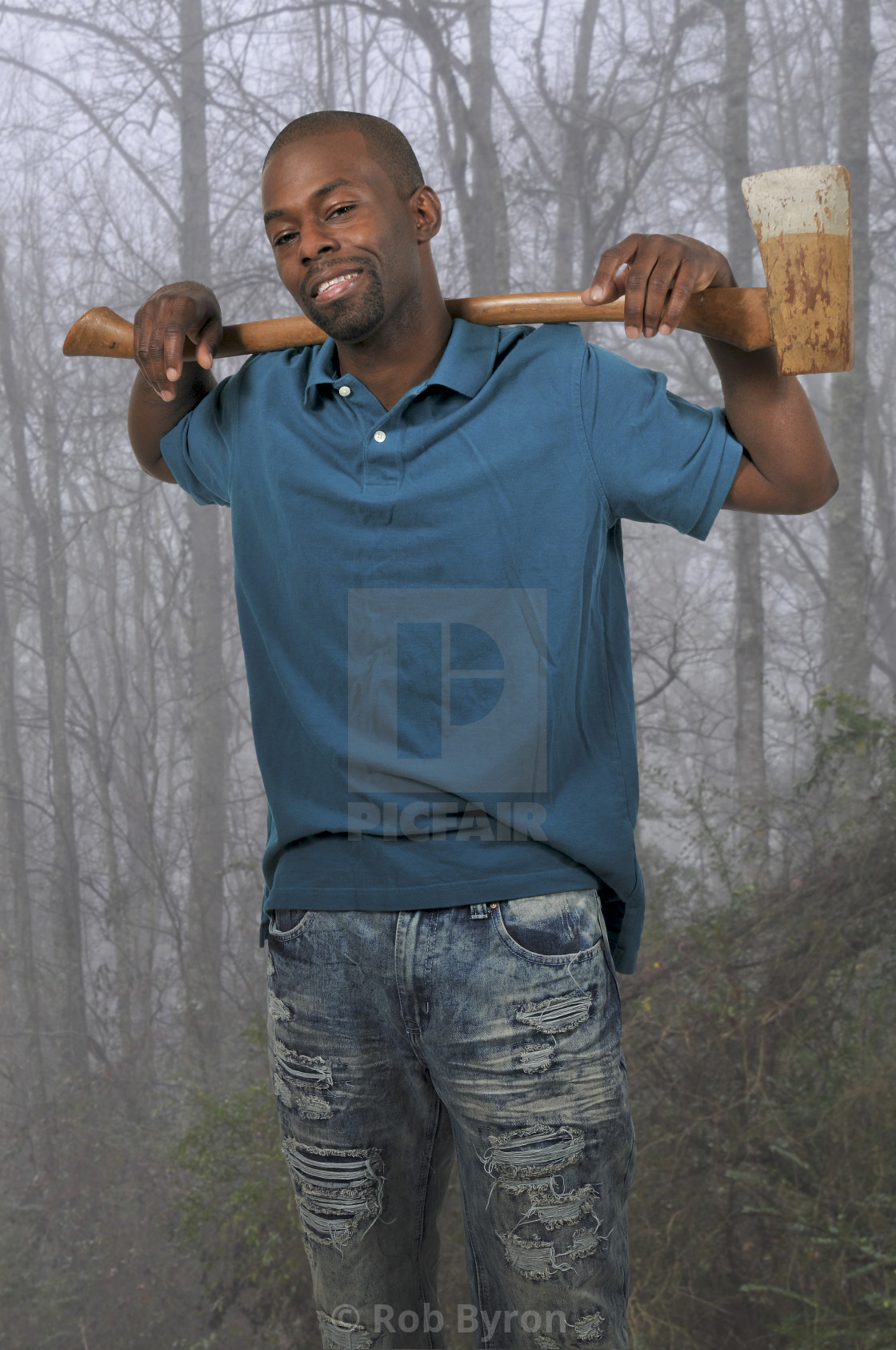 """""""Man with an axe"""" stock image"""