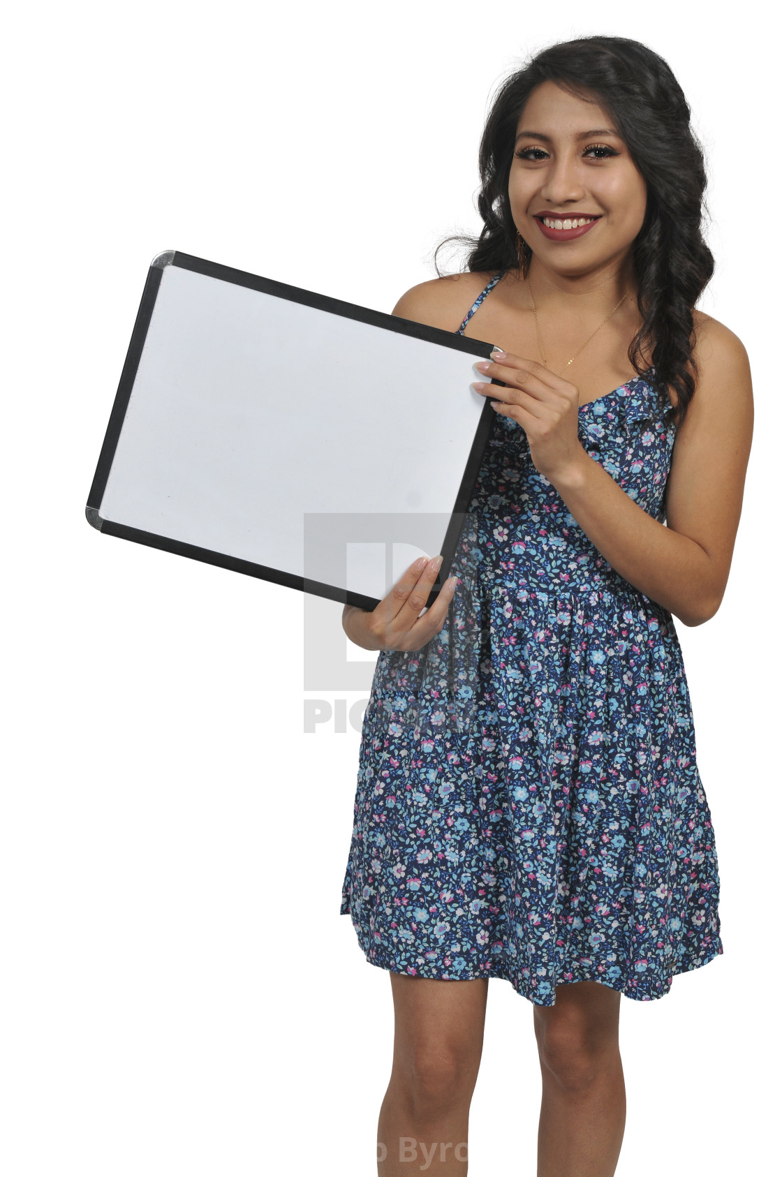 """""""Woman Holding a Blank Sign"""" stock image"""