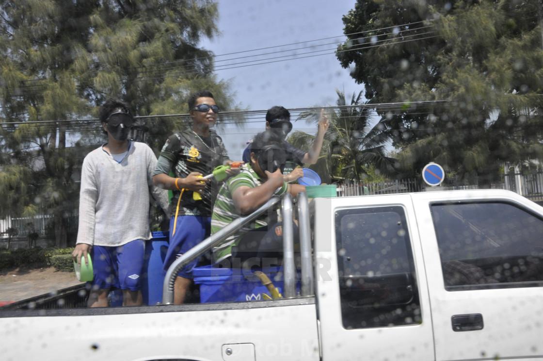 """""""Songkram Assassins"""" stock image"""
