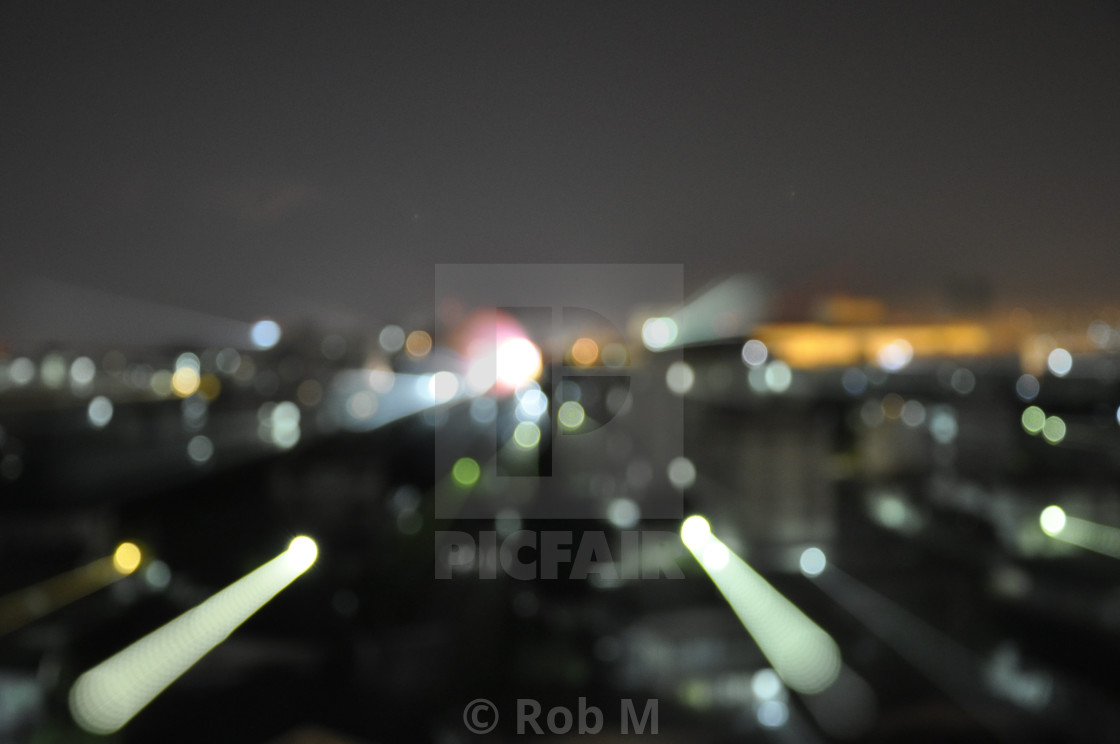 """""""More City Lights"""" stock image"""