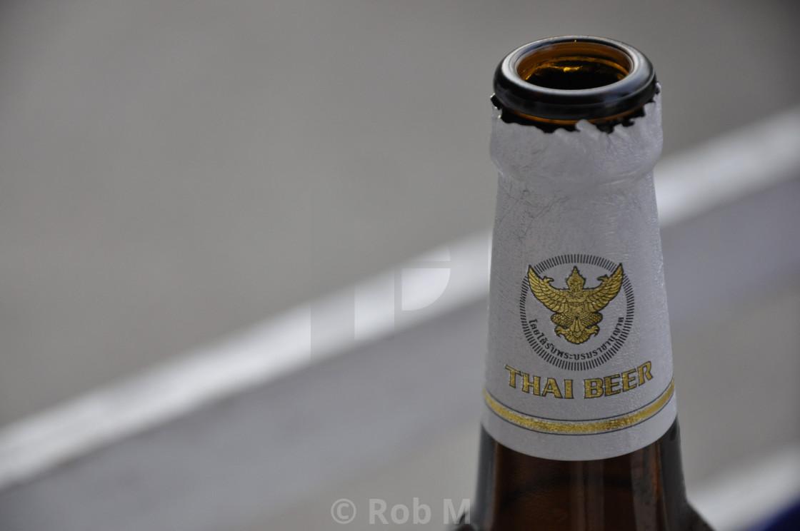 """Thai Beer"" stock image"