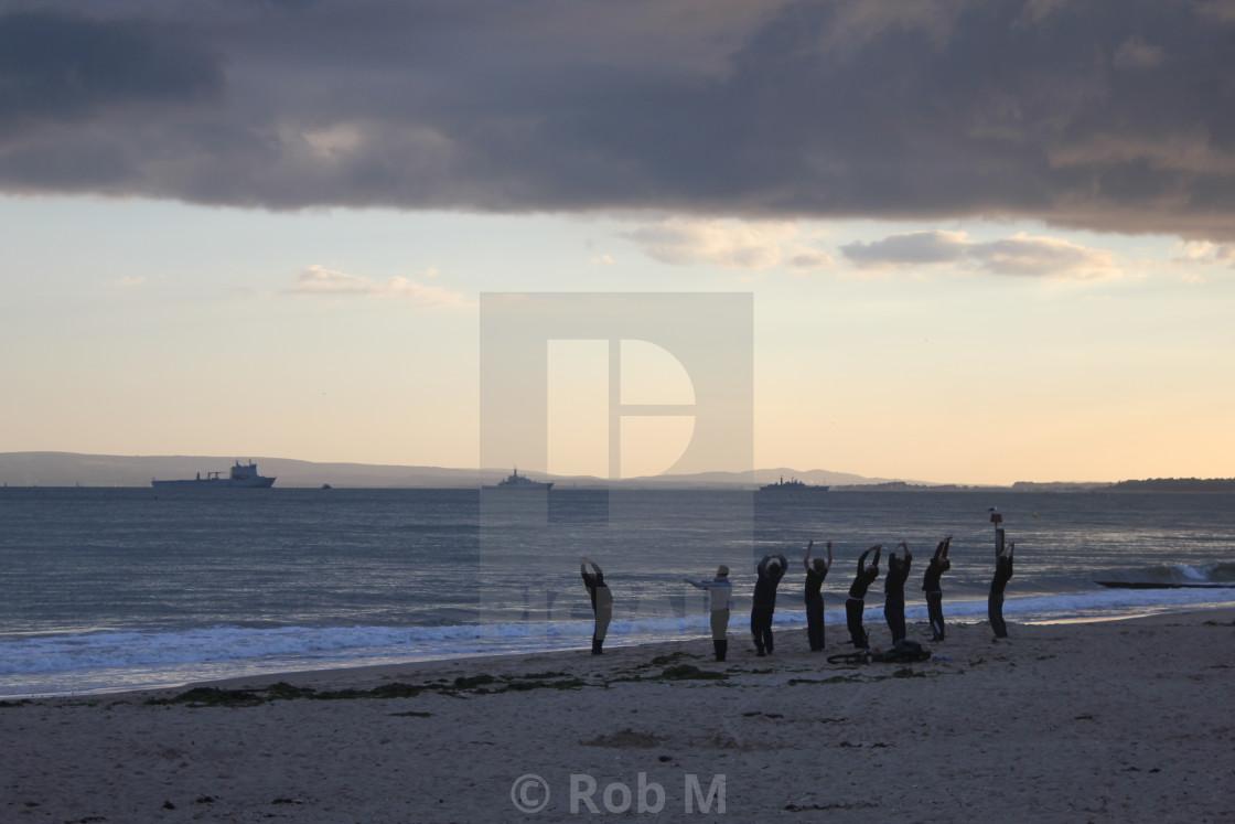 """Beach Yoga"" stock image"