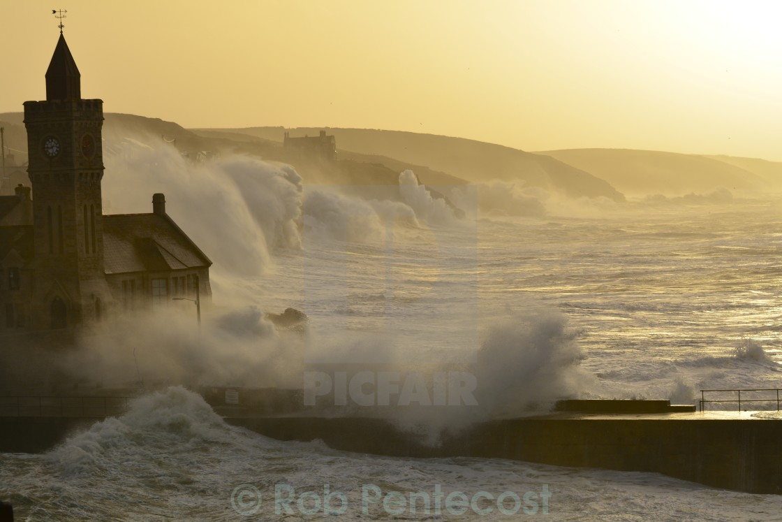 """Porthleven Harbour"" stock image"