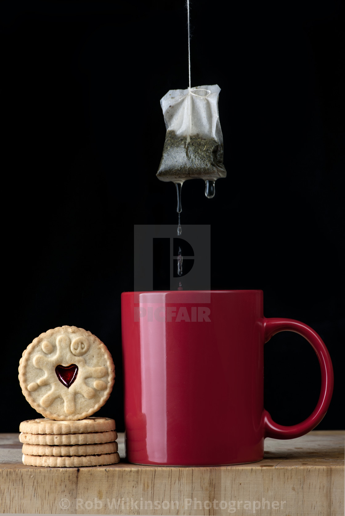 """""""tea and biscuits"""" stock image"""