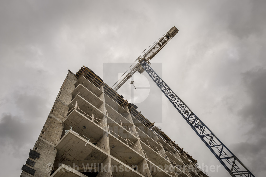 """""""tower crane and construction site"""" stock image"""