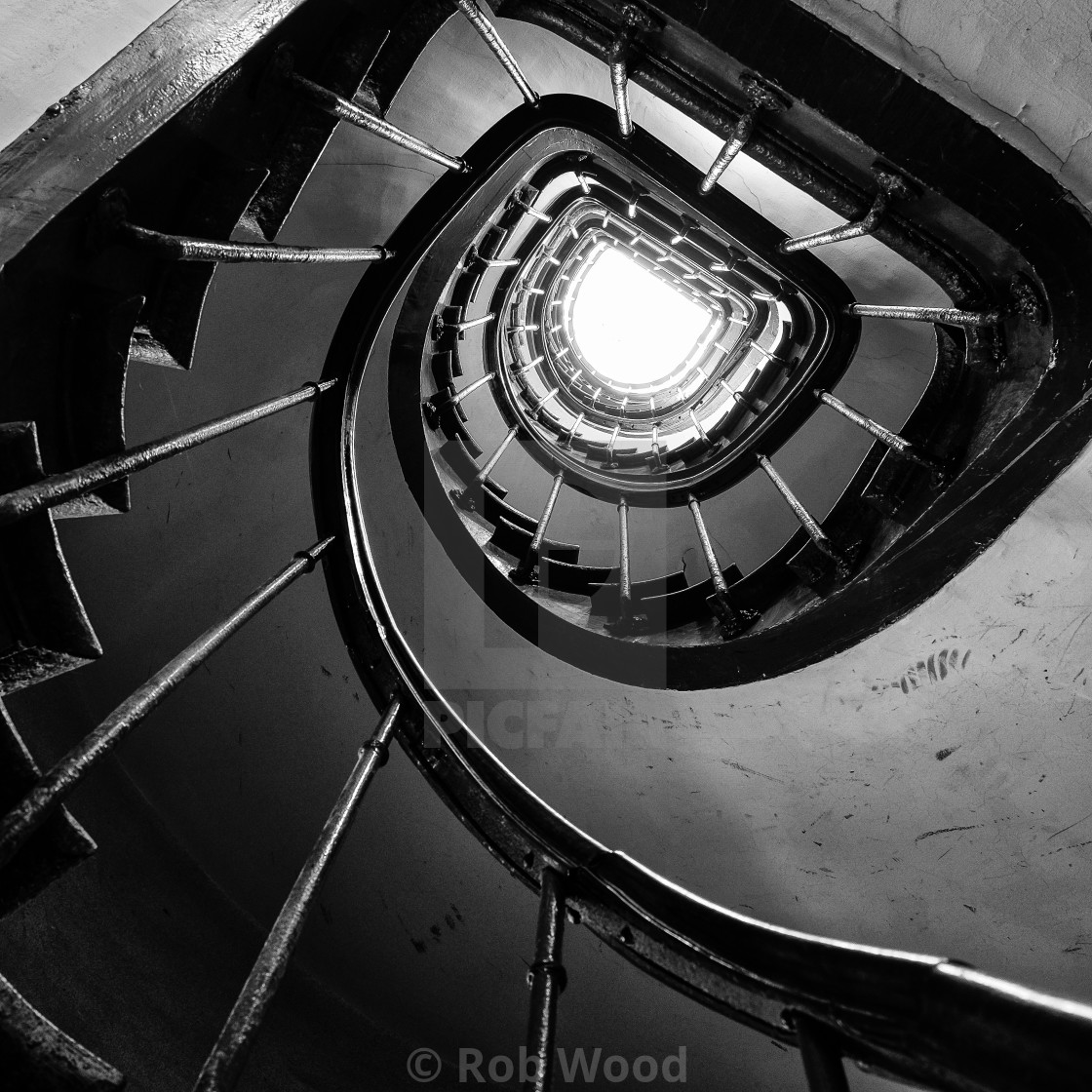 """Old Spiral Staircase."" stock image"