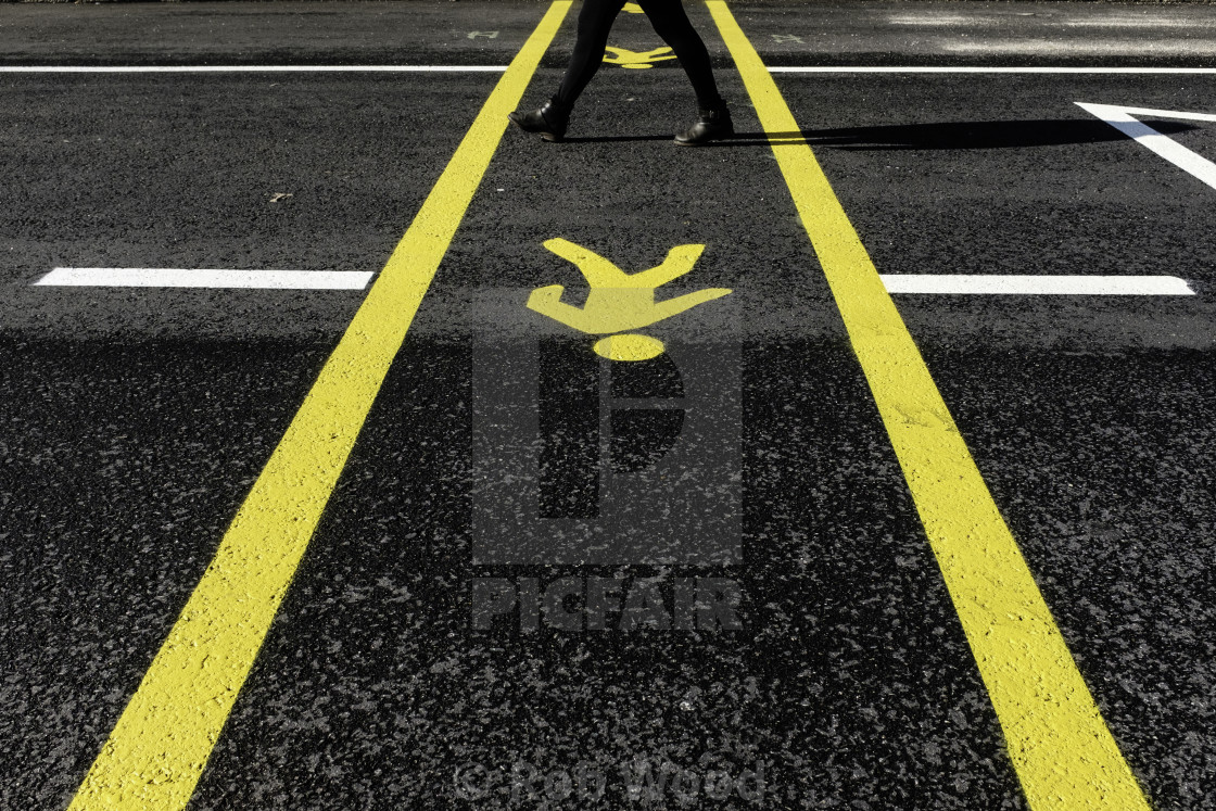 """Pedestrian Street Markings"" stock image"