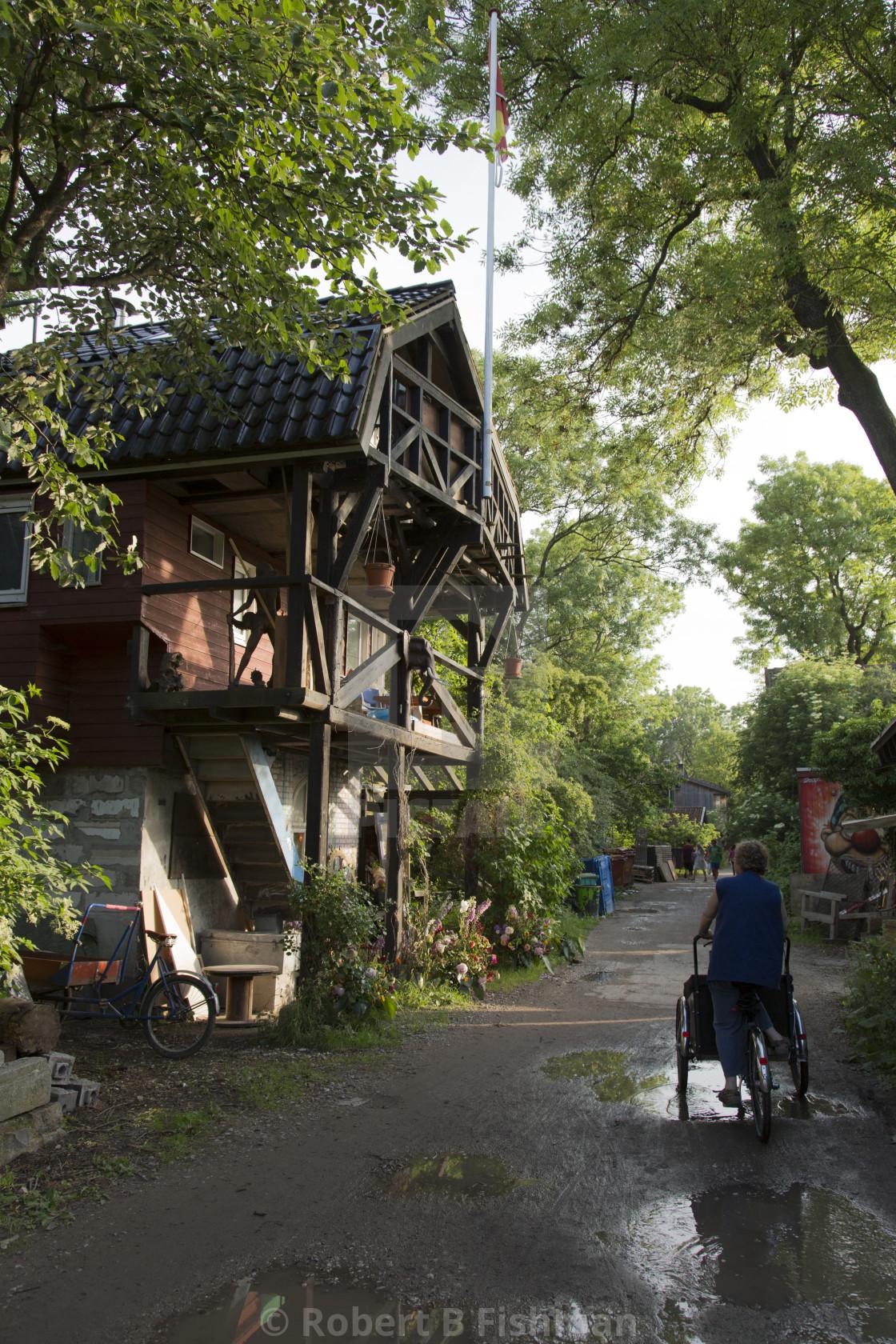 """street in Christiania"" stock image"