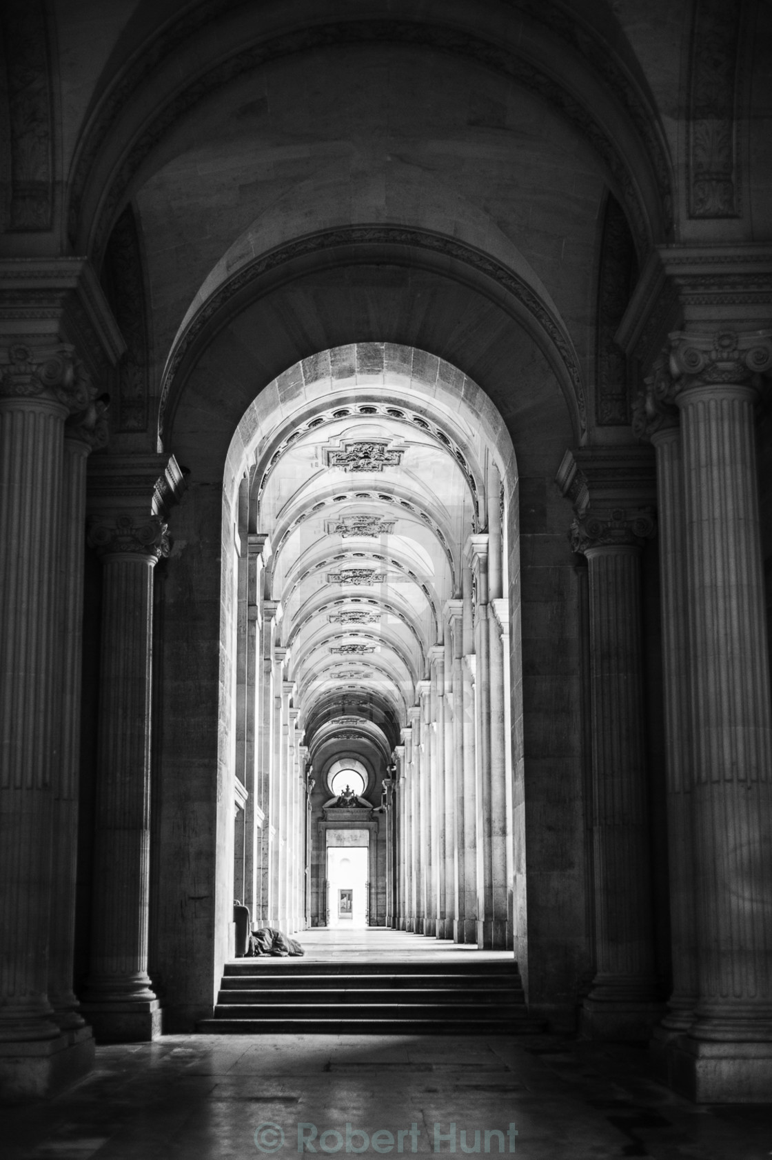 """Archway to the louvre"" stock image"