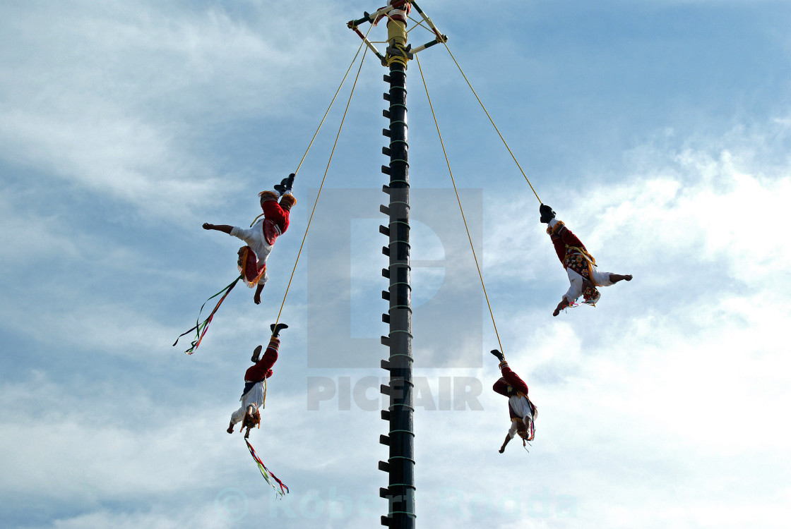 """Mexican acrobats."" stock image"