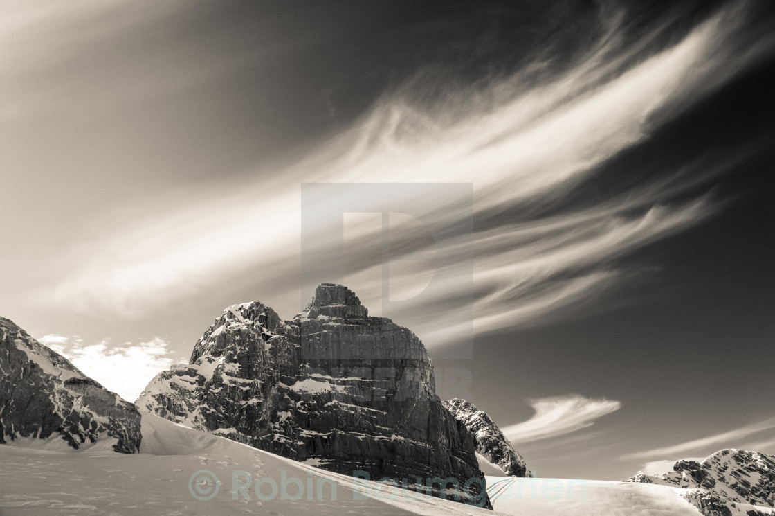 """Clouds on a Glacier"" stock image"