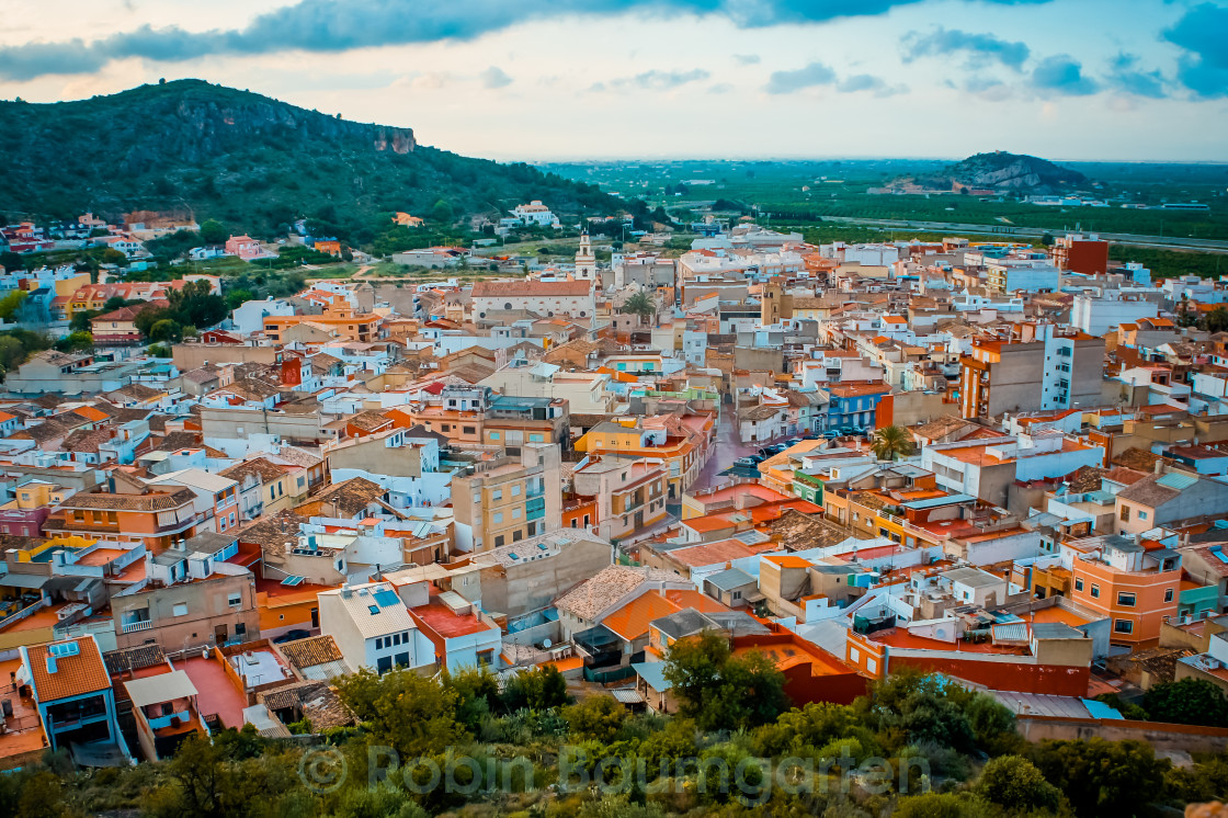 """Colourful Houses in Spain"" stock image"