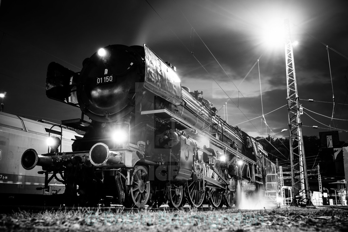 """Steam Locomotive in Germany"" stock image"