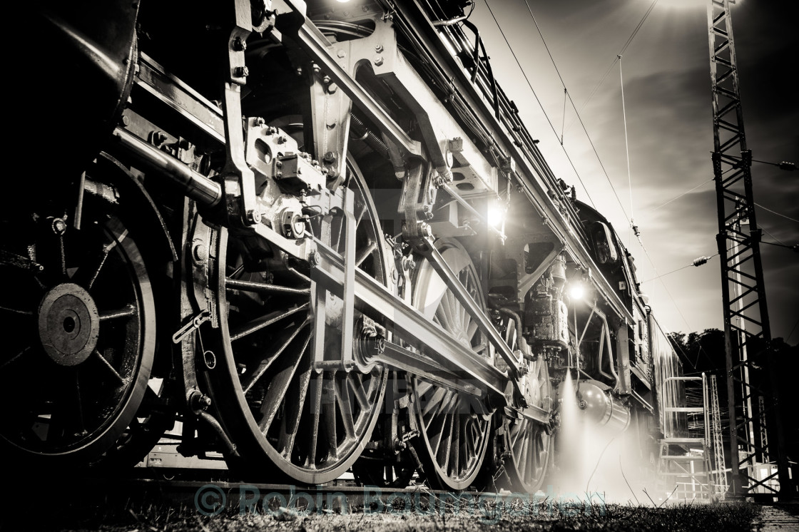 """Detail of Steam Locomotive"" stock image"