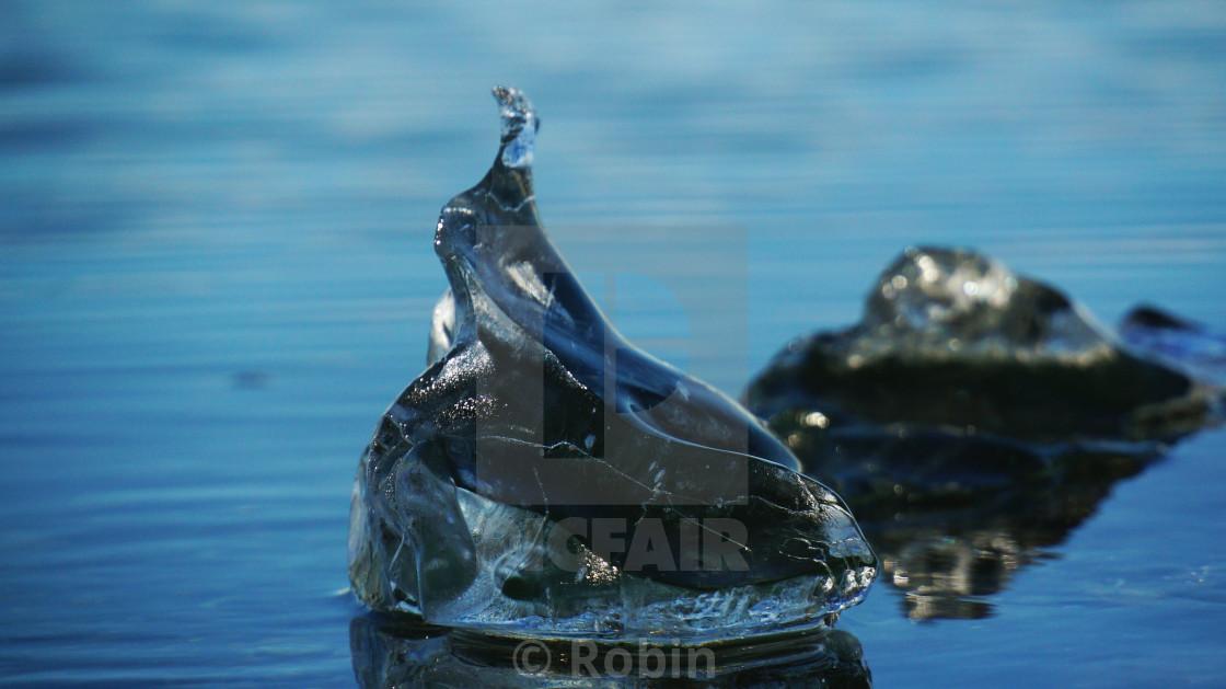 """Tear Drop Iceberg"" stock image"