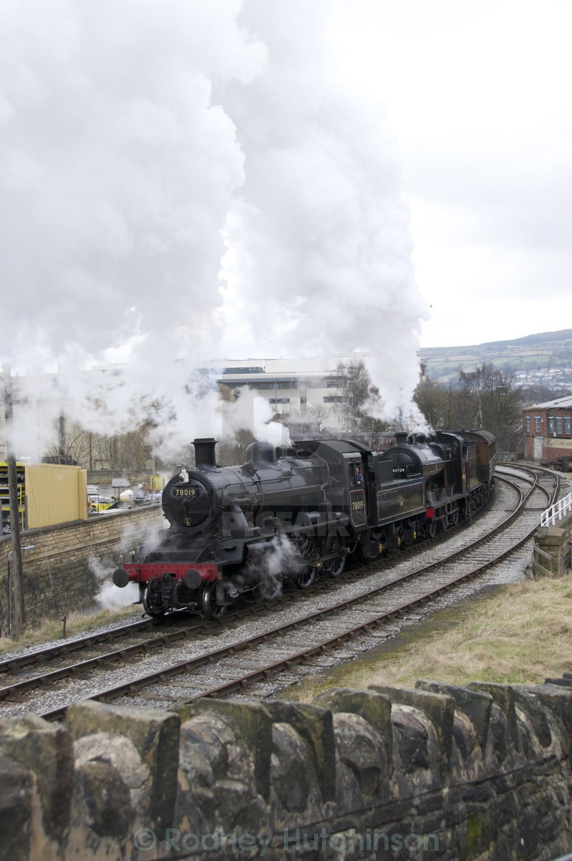 """Double Header Steam train"" stock image"