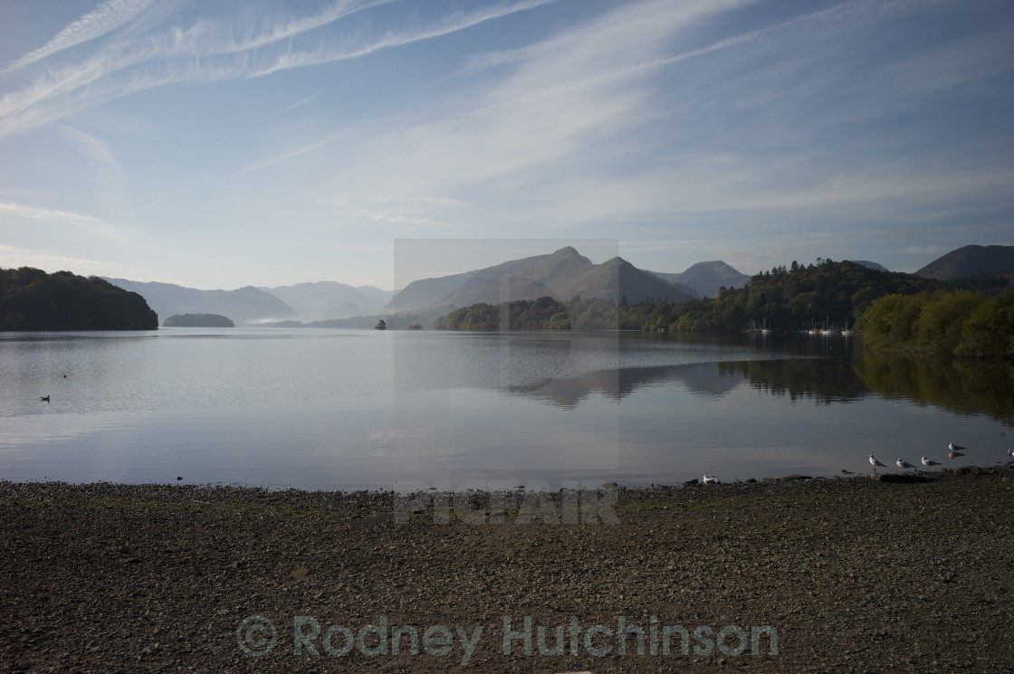 """Derwent Water near Keswick, Cumbria."" stock image"