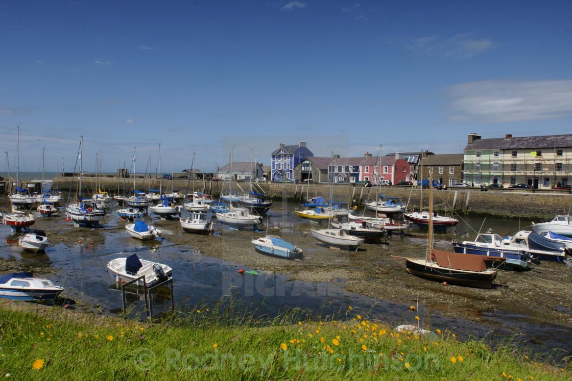 """Aberaeron Harbour,"" stock image"