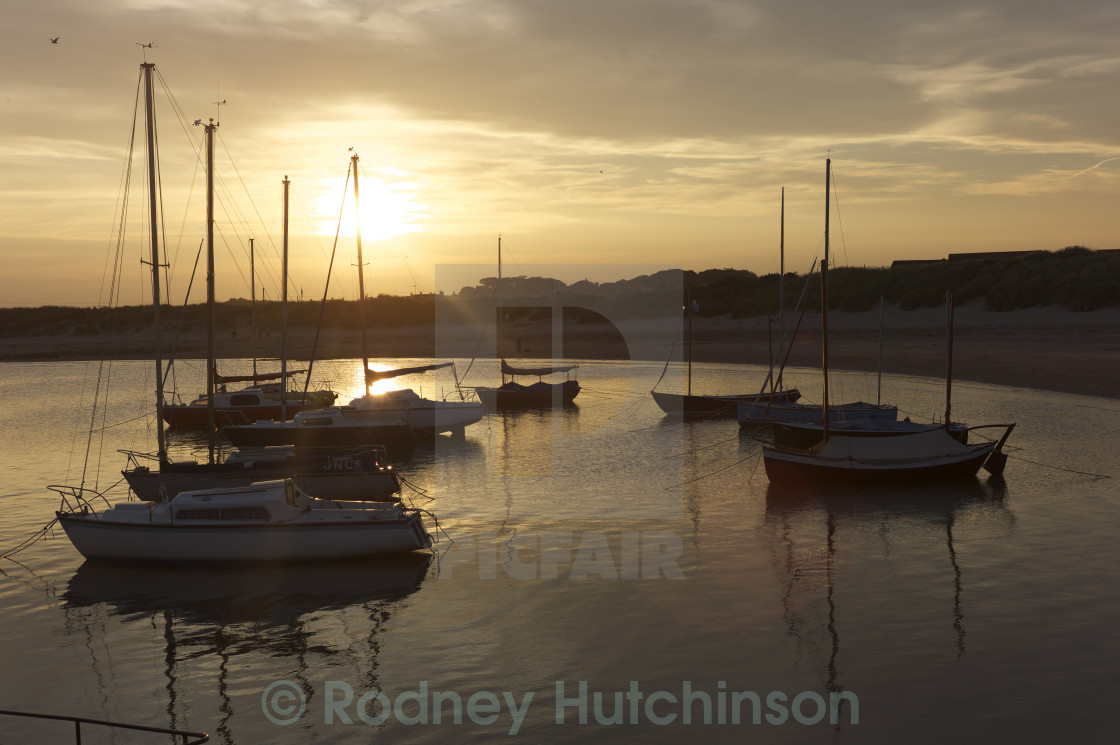 """Beadnell Harbour"" stock image"