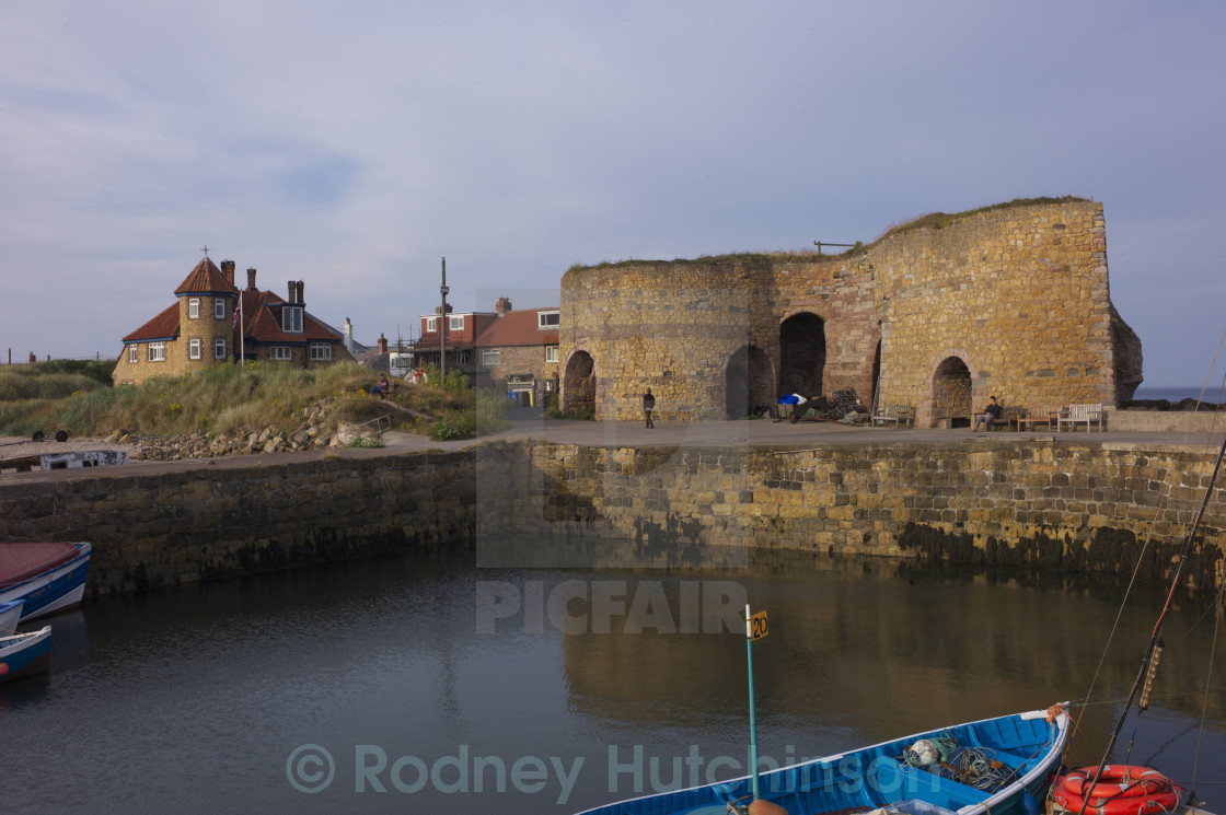 """Lime Kilns Beadnell Harbour"" stock image"