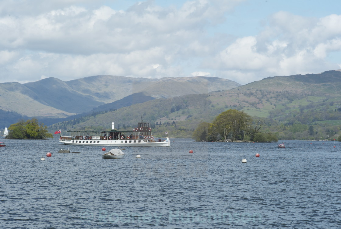 """Lake Cruise Ship Lake Windermere"" stock image"