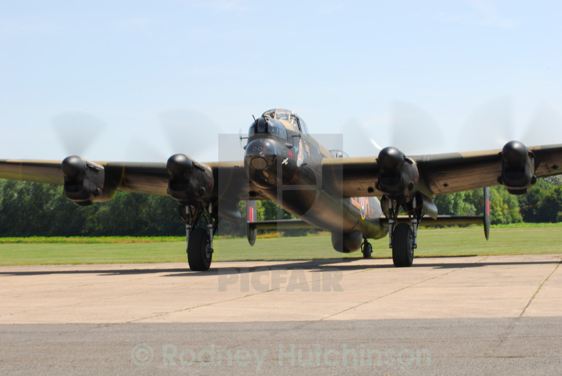 """Avro Lancaster Taxing"" stock image"