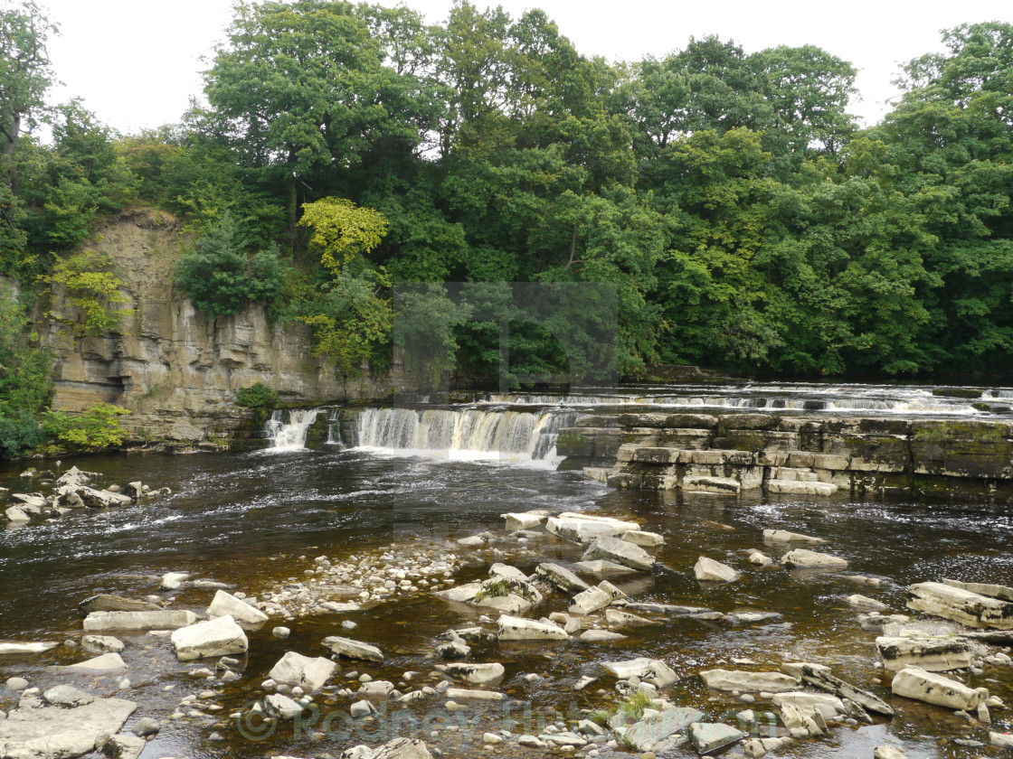 """River Swale Waterfalls Richmond"" stock image"